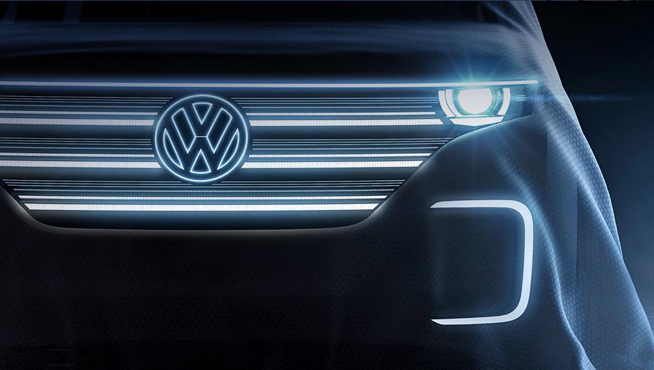Volkswagen bulli. О внешности автомобиля судить пока рано, вероятнее всего, она будет выполнена в ретро-стилистике.