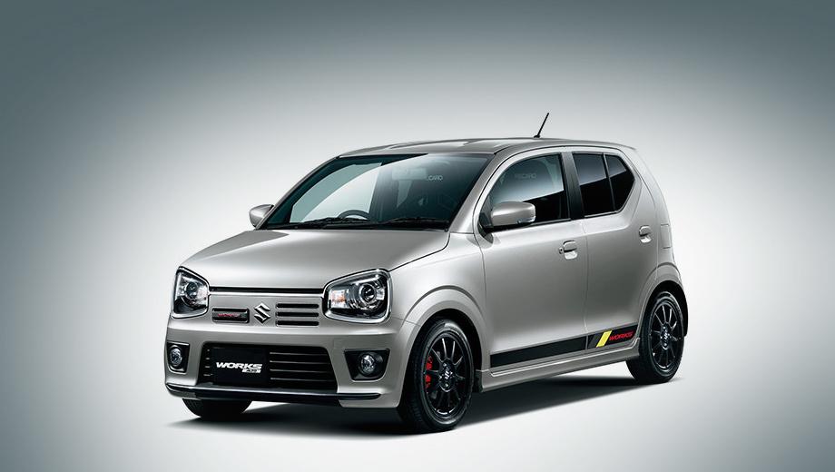 Suzuki alto,Suzuki alto works. Внешне Works отличается от RS разве что шильдиками с названием модификации да наклейками на кузове.