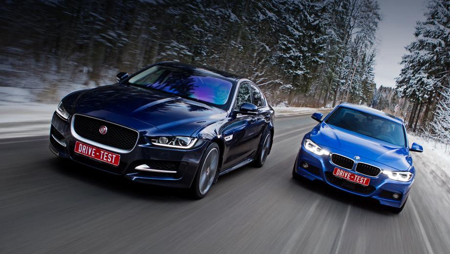 Bmw 3,Jaguar xe. Диапазон начальных цен различных модификаций Ягуара ХЕ, который собирается на лендроверовском заводе в Солихалле, ― от 2,1 до 3,5 млн рублей, «трёшки» BMW, включая калининградские версии, ― 1,6–2,6 млн.