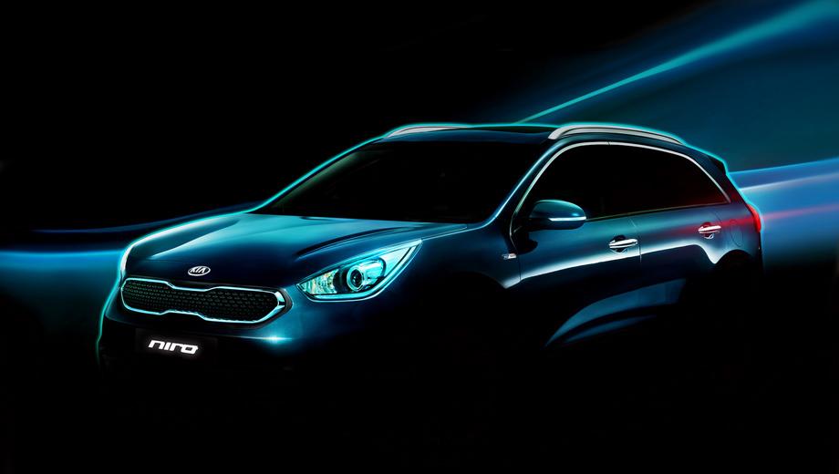 Kia niro. Облик новой модели разрабатывался совместно специалистами дизайн-центров KIA в США и Корее.