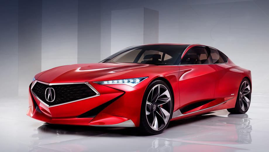Acura precision,Acura concept. Очень большой получился автомобиль. В длину он уступает Chevrolet Tahoe лишь один миллиметр (5181 мм). Ширина — 2133, высота — 1320, база — 3098 мм. Колёса — 22-дюймовые диски с шинами Michelin Pilot Super Sport.