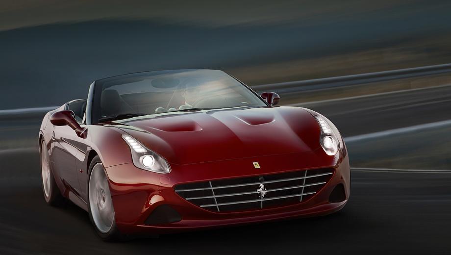 Ferrari california. Внешние отличия машин со спортпакетом минимальны: решётка радиатора и диффузор окрашены в оттенок Grigio Ferro Met.
