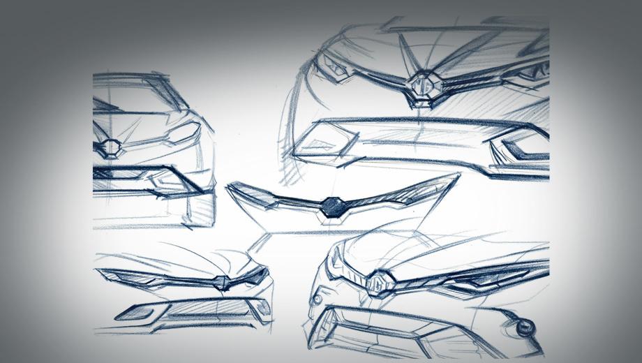 Mg gs. Судя по единственному официальному тизеру, нас ждёт практически та же машина, что ранее была представлена в Китае, зато у неё возможны вариации оформления в зависимости от версии.