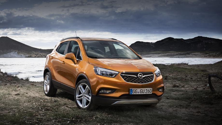Opel mokka,Opel mokka x. На публике Mokka X отпразднует премьеру в марте на Женевском автошоу. Анфас автомобиль скорректирован в духе последних моделей Опеля.