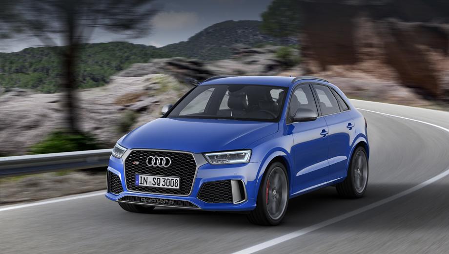 Audi q3,Audi rs q3,Audi rs q3 performance. Публичный дебют мощного кроссовера состоится на Женевском автошоу в марте.