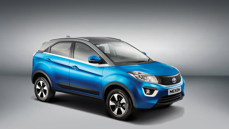 Tata nexon,Tata hexa,Tata zica,Tata zest,Tata bolt,Tata kite 5. У машины неслучайно отличная от основного цвета крыша, отделённая белой поясной линией. Индийцы обещают, что покупатели смогут индивидуализировать свой Nexon в широких пределах.