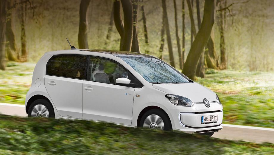 Volkswagen e-up,Volkswagen e-golf. В настоящий момент самым доступным электромобилем компании является крошечный Volkswagen e-up! — в Германии он продаётся по цене от 26 900 евро (примерно 2,3 млн рублей). Бензиновый собрат «начинается» с 9975. Топливо за рубежом дешевеет.