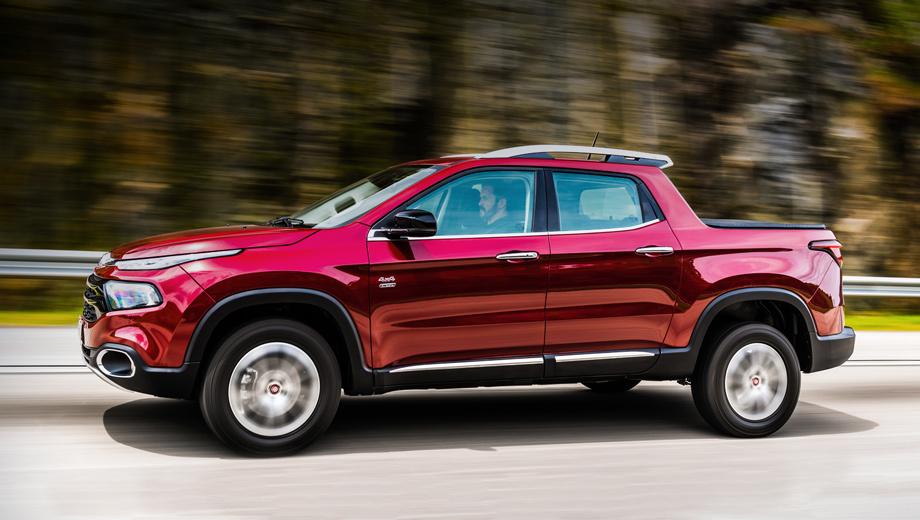 Fiat toro. Анфас новый пикап напоминает концепт двухлетней давности Fiat FCC4. Бразильцы получат машины локальной сборки.
