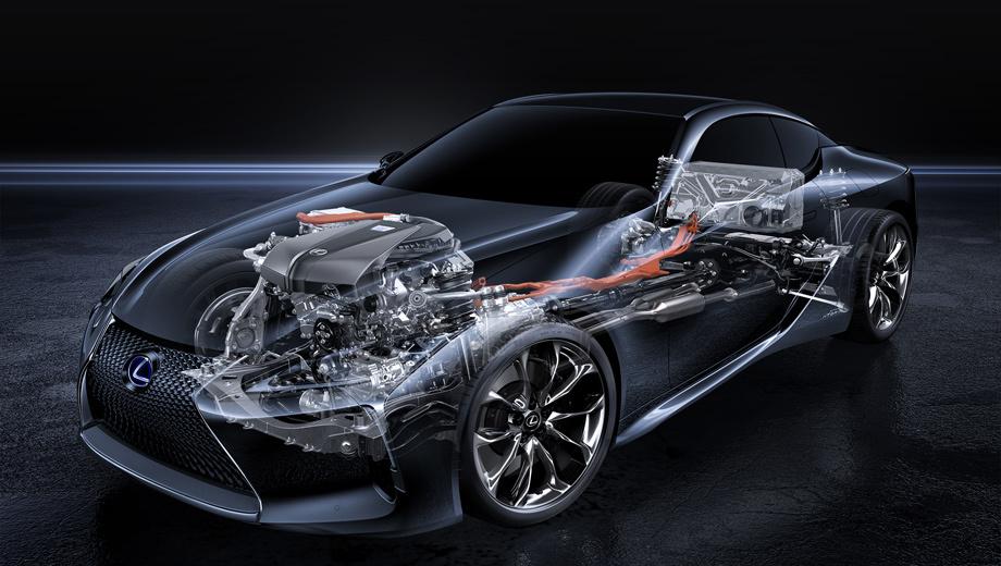 Lexus lc,Lexus lc 500h. Новое поколение гибридной системы, как поясняет компания,  специально разработано для высокопроизводительных транспортных средств. Вероятно, мы увидим её не только на LC, но и на будущем «эль-эсе».