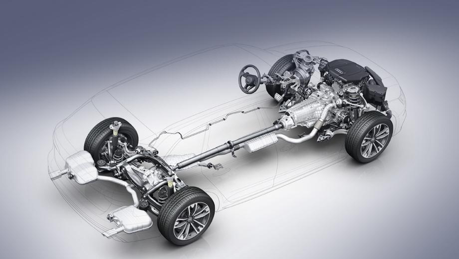 Audi a4 allroad. По уверению производителя, новая система полного привода позволяет экономить топливо до 0,3 л/100 км по сравнению с предшествующей конструкцией.