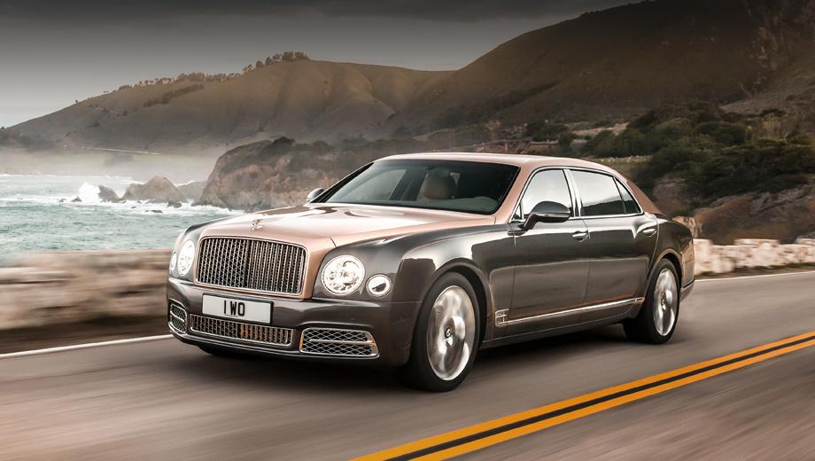 Bentley mulsanne,Bentley mulsanne speed,Bentley mulsanne extended wheelbase. Самая заметная внешняя перемена: решётка радиатора и воздухозаборник с вертикальными планками (на фото показан вариант Extended Wheelbase). Кроме того, тут новые крылья, капот и бамперы.