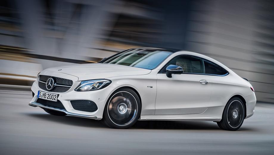 Mercedes c,Mercedes c coupe,Mercedes c coupe amg,Mercedes c amg. За исключением меньшего количества дверей, внешне купе представляет собой точную копию седана: та же «алмазная» решётка, тот же хромированный сплиттер спереди и так далее.