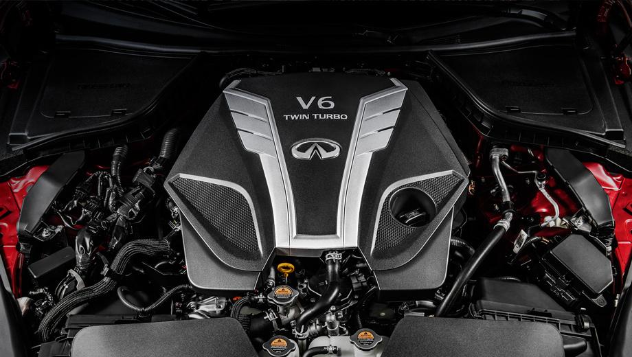 Infiniti q50,Infiniti q60. Индекс мотора — VR30DDTT. Четырёхдверка Q50 станет первой для него моделью, но, само собой, не последней.