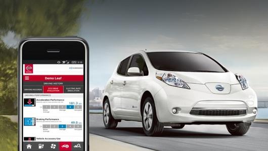Nissan leaf. Мобильные приложения ныне позволяют дистанционно проверить заряд батареи (или уровень горючего в баке), запустить прогрев салона перед приходом владельца и так далее.