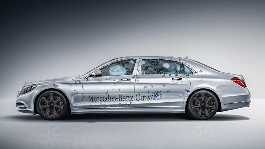 Mercedes s,Mercedes -maybach,Mercedes -maybach s. Стёкла фиксированы и покрыты изнутри поликарбонатом. Броня днища полностью закрывает пассажирскую часть.