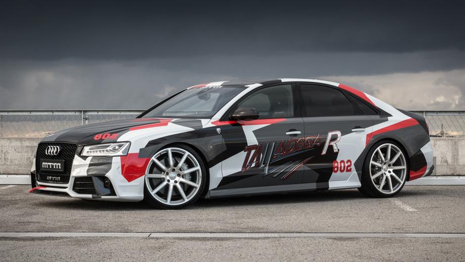 Audi s8,Audi rs3,Volkswagen t6,Volkswagen amarok,Volkswagen mtm  amarok v8 desert edition. Специалисты из Ветштеттена, в отличие от многих других тюнеров, называют цену сразу же во время премьеры модели. За седан, развивающий 350 км/ч, немцы попросят около 200 000 евро (включая цену исходного автомобиля, взятого для перекройки), то есть примерно 16,6 млн рублей.