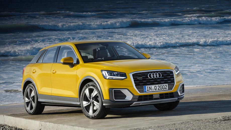 Audi q2. Создатели автомобиля называют его дизайн геометрическим. Тут ещё сильнее, чем в прежних моделях, выражены грани и углы.