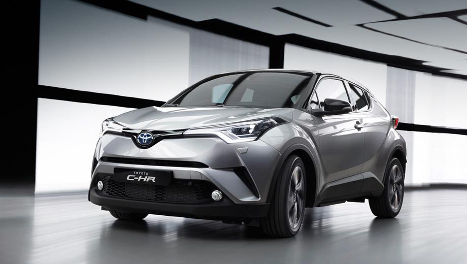 Toyota c-hr. Производство кроссовера будет налажено в Турции. В Европе продажи начнутся в январе будущего года. Появится ли C-HR в России — пока неясно, решение об этом не принято.