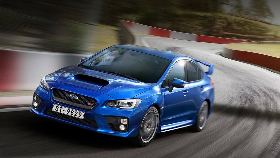 Subaru impreza wrx sti. В цветовой гамме появилось два новых оттенка кузова — синий (Lapis Blue Pearl) и красный (Pure Red). Автомобили доступны только по предварительному заказу.