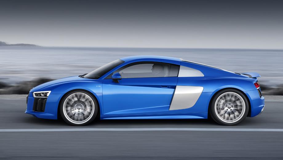 Audi r8. О точных характеристиках говорить рано, но, предположительно, Audi R8 V6 сможет разгоняться до сотни за 3,7−3,8 с и развивать максималку 305 км/ч.