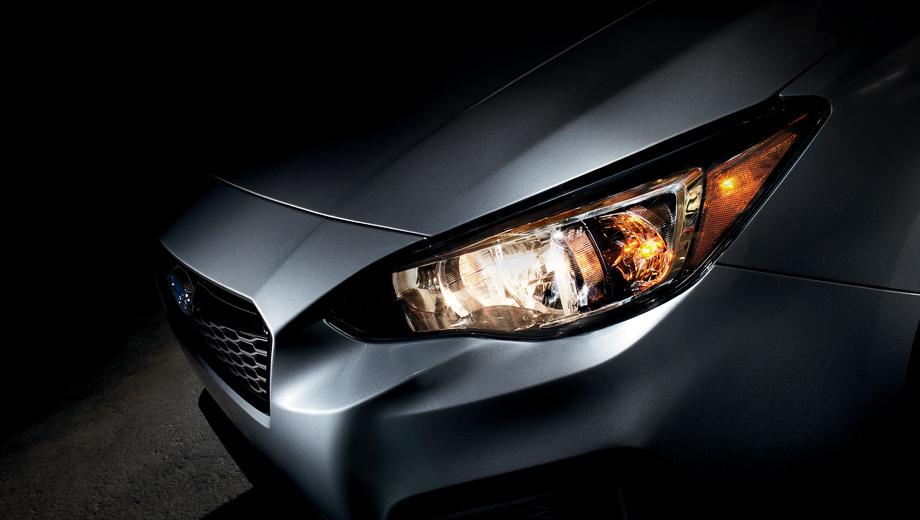 Subaru impreza. Первым же тизером японцы дали понять, что диковинная оптика Hawk Eye («ястребиный глаз»), показанная прототипами, в серию не пошла. Интересно, что же осталось от смелой концепции «Динамика ицельность».
