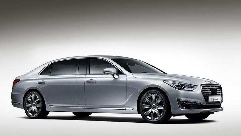 Hyundai genesis eq900. Динамические характеристики у этой махины достойные: до сотни она разгоняется менее чем за шесть секунд.
