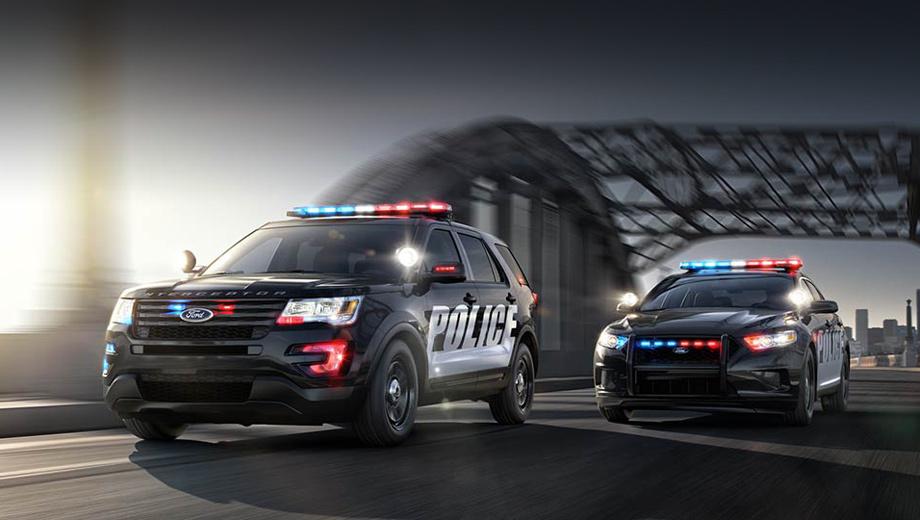 Ford explorer,Ford taurus,Ford police interceptor. В Соединённых Штатах статус Police Interceptor («полицейский перехватчик») имеют две фордовские модели: доработанный кроссовер Ford Explorer и седан, построенный на основе модели Ford Taurus.