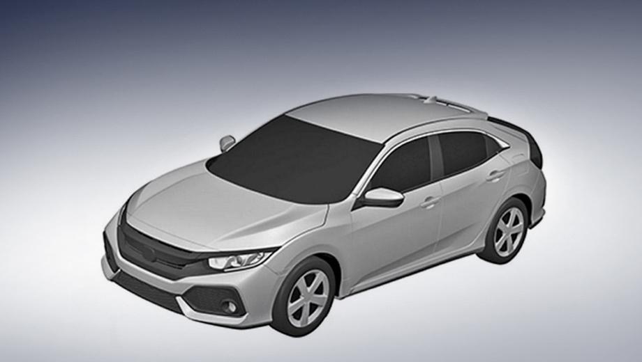 Honda civic. Производство модели начнётся в 2017 году на заводе Хонды в Великобритании.