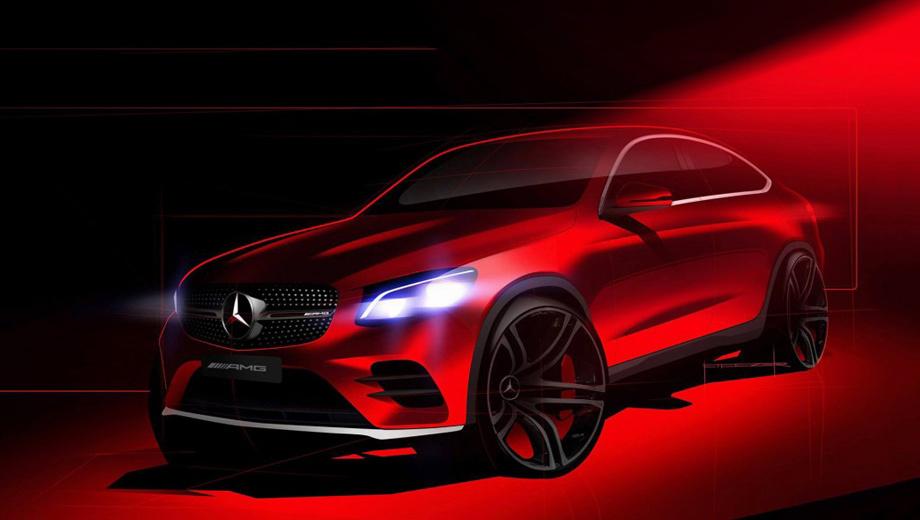 Mercedes glc,Mercedes glc coupe. «Подогретое» GLC 43 Coupe вряд ли отстанет в динамике от родственного AMG-паркетника. Тот разгоняется до сотни за 4,9 с, скорость ограничена электроникой на отметке 250 км/ч.