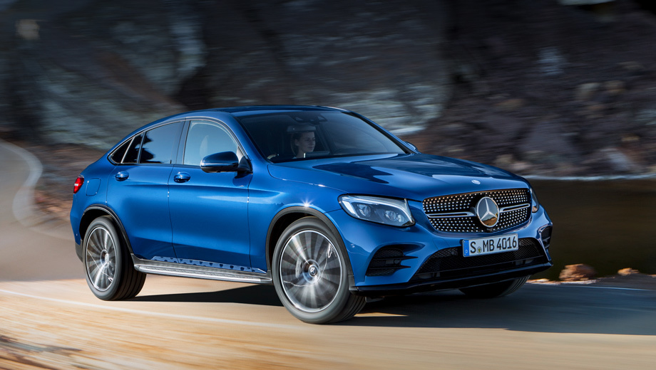Mercedes glc,Mercedes glc coupe. Точных размеров производитель не указал, но ясно, что GLC Coupe длиннее GLC SUV (4,73 м против 4656 мм) и чуть ниже (1,6 м vs. 1639 мм). Коэффициент аэродинамического сопротивления такой же — 0,31.
