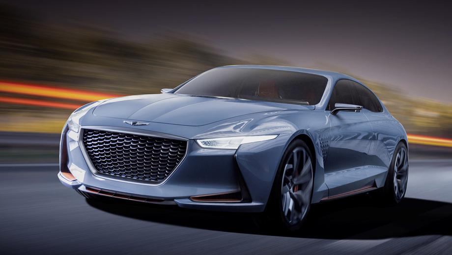 Hyundai concept,Genesis new york concept. Понятно, что концепт только задаёт вектор развития, но никак не является предсерийной версией G70. Наверняка мы увидим ещё не один подобный шоу-кар.