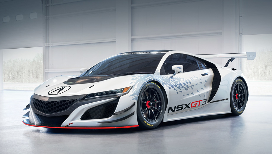Acura nsx,Acura nsx gt3. Модификация GT3 NSX будет производиться там же, где стандартная модель, — в штате Огайо. Кстати, заказы на обычную Акуру NSX в США принимаются с 25 февраля, конвейер заработает в конце апреля. Базовая цена — $156 000.