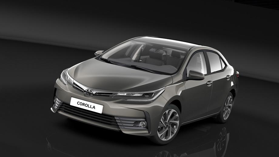 Toyota corolla. В цветовой гамме появилось три новых оттенка кузова — Platinum Bronze, Tokyo Red и Earth Bronze, кроме того, у седана теперь другие по дизайну колёсные диски.