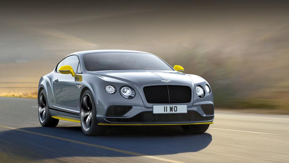 Bentley continental gt speed. Этот образец двухдверки Continental GT Speed Black Edition щеголяет контрастными элементами нового цвета — Cyber Yellow.