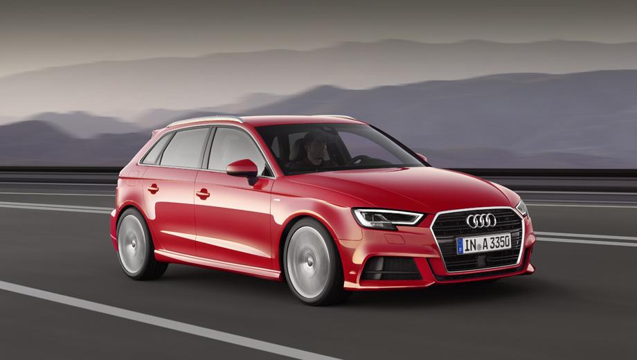 Audi a3,Audi a3 sportback,Audi a3 cabrio,Audi a3 e-tron,Audi s3. На выбор будут предлагаться сразу несколько дизайн-пакетов. В гамму цветов кузова добавлено пять новых: Ara Blue, Cosmic Blue, Nano Gray, Tango Red (на фото) и Vegas Yellow, а ещё есть эксклюзивный Daytona Gray (доступен только при установке пакета S line и «эскам»).