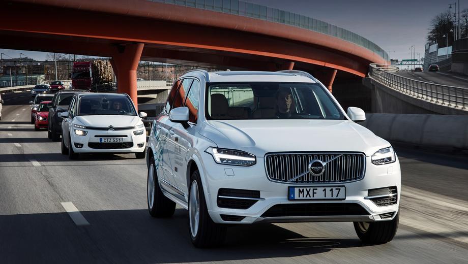 Volvo xc90. Беспилотное вождение Volvo теперь называет простой аббревиатурой AD (autonomous driving). Главную роль во всех опытах с автопилотом в последнее время играет модель Volvo XC90.