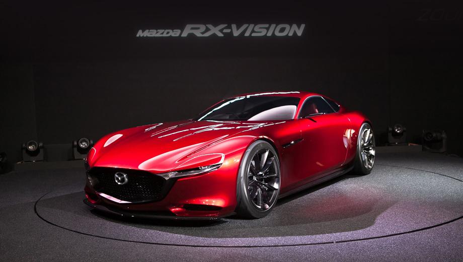 Mazda rx-vision. Концепт Mazda RX-Vision, представленный минувшей осенью, считается прообразом купе с роторным мотором нового поколения.