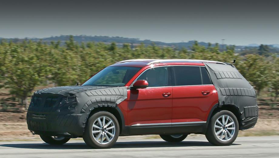 Volkswagen crossblue. Если судить по концепту, в длину новичок приближается к пяти метрам. Это позволило разместить в нём семь мест.