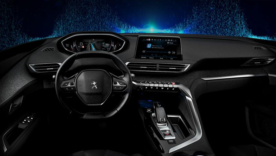 Peugeot i-cockpit,Peugeot concept. Салон i-Cockpit совместим с системами Apple CarPlay, MirrorLink и Android Auto.