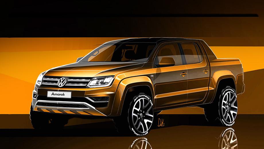 Volkswagen amarok. Стилистически после обновления Amarok станет ближе к фургону Caddy.