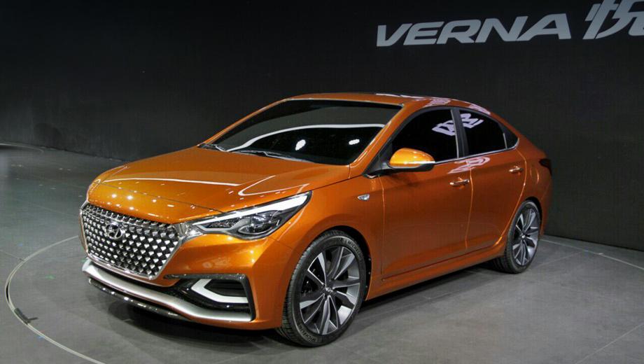 Hyundai verna. В Поднебесной новое поколение седана Verna поступит в продажу уже осенью этого года.