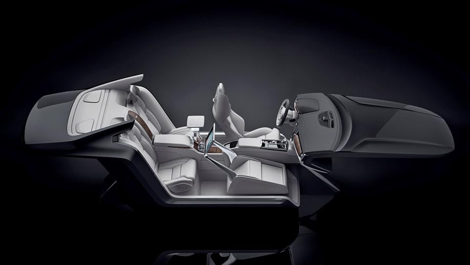 Volvo s90 excellence,Volvo concept. По словам Робина Пейджа, вице-президента по дизайну интерьеров Volvo, этот салон — настоящее произведение искусства. К слову, появятся ли какие-то из применённых решений на серийных машинах, неизвестно.