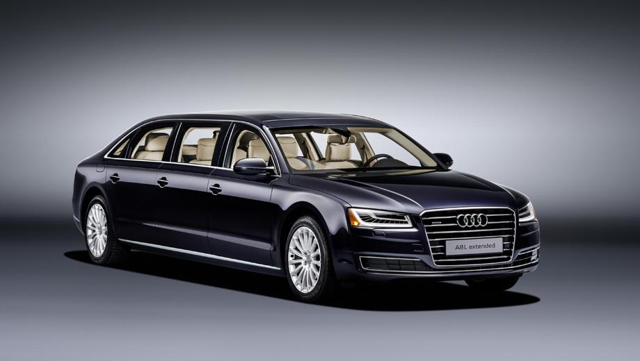 Audi a8. Шестидверный седан Audi A8 L extended — единичный опыт, проведённый на заказ. В нынешнем поколении ничего подобного больше не предвидится, а вот в следующем — вполне.