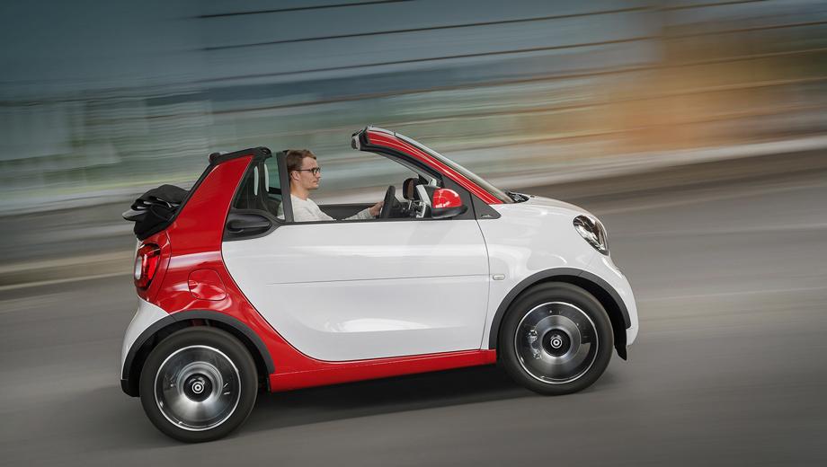 Smart fortwo,Smart fortwo cabrio. На нашем рынке осталось совсем немного кабриолетов, и новенький Smart — самое доступное предложение для тех, кто любит прокатиться с открытым верхом.