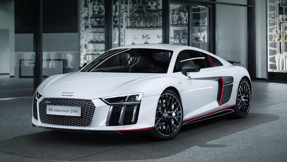 Audi r8. Публичный дебют купе Audi R8 selection 24th справит 28 мая в рамках суточного марафона на Нюрбургринге.