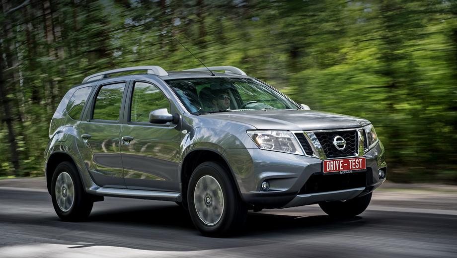 Nissan terrano,Renault duster. Производство Terrano началось на московском заводе «Рено Россия» осенью 2013 года. Скромную модернизацию модель пережила в марте 2016-го, но внешне ни капли не изменилась. Рестайлинг свёлся к появлению полноприводной модификации с двумя педалями и доработкам интерьера.