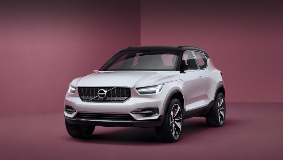 Volvo concept,Volvo concept 40.1,Volvo concept 40.2,Volvo v40,Volvo xc40. Концептов оказалось два. Первый — компактный кроссовер, который придёт на смену приподнятому хэтчу V40 Cross Country.