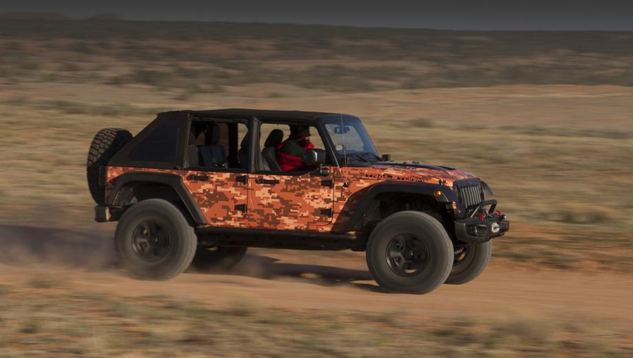 Jeep wrangler. По неоднократным заверениям американцев, следующий Wrangler останется таким же брутальным, как нынешний. (На фото — концепт Jeep Trailstorm.)