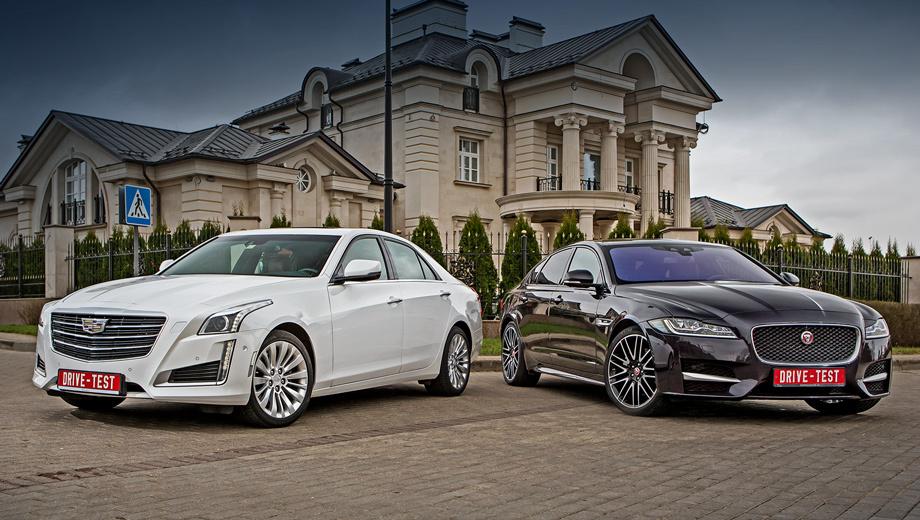 Cadillac cts,Jaguar xf. Новый Jaguar XF в России ― это четыре двигателя на выбор, пять комплектаций, задний или полный привод за 2 810 000−4 495 000 рублей. Для Кадиллака CTS предлагается только один мотор, четыре исполнения, задне- либо полноприводная трансмиссия — за 2 690 000−3 470 000 рублей.