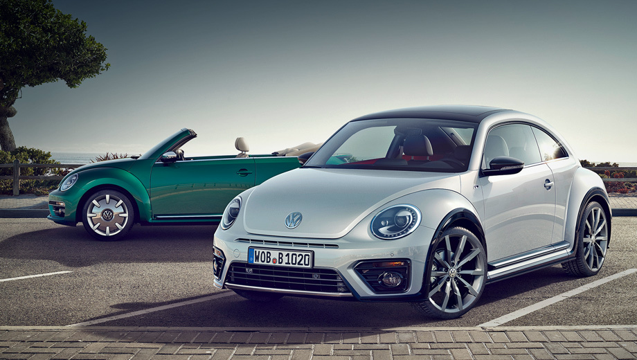 Volkswagen beetle. В гамме вариантов окраски кузова два новых оттенка «металлик» — зелёный Bottle Green и серебристый White Silver.